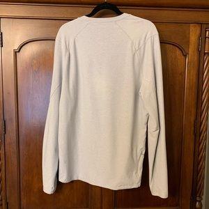 9ca4c80968b759 lululemon athletica Shirts - Lululemon Surge Warm LS Heathered Sea Salt